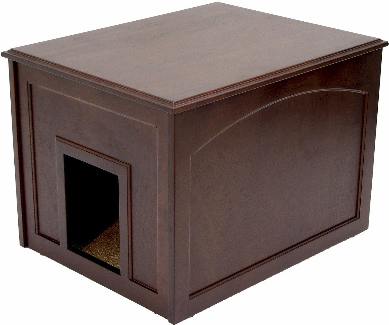Espresso Crown Pet Products Cat Litter Cabinet, Espresso