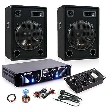 3000 W PA Karaoke Equipo Música Cajas Bluetooth MP3 USB SD ...