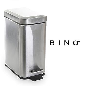Amazon.com: BINO Bote de basura rectangular, de acero ...