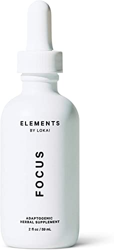 Focus by Elements, Wellness Adaptogen Tonic, Improves Focus Concentration, 20 Servings, 2 Fl Oz