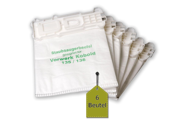 136 Filtertüten Stausaugerbeutel geeignet für Vorwerk Kobold 135