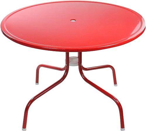 Northlight 39.25-Inch Outdoor Retro Metal Tulip Dining Table