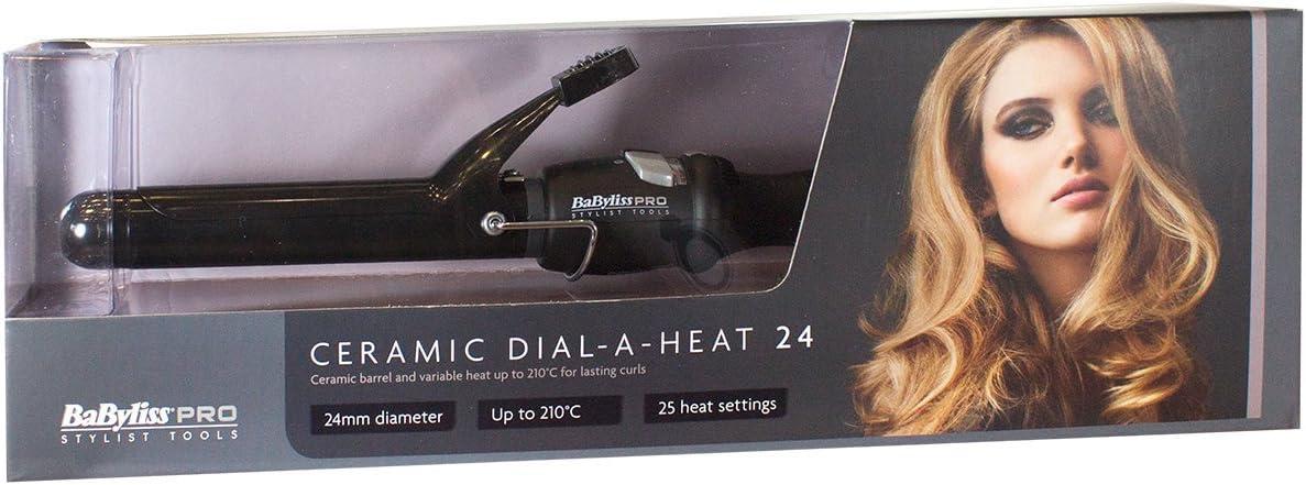 BaByliss 24 mm Pro Cerámica Dial a calor pinzas de pelo: Amazon.es: Salud y cuidado personal