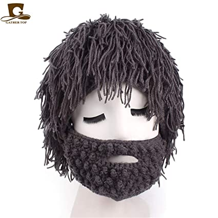 f0b905cbe15 Amazon.com  Wig Hobo Joggers Men Warm Funny Beanies Mask Caveman Scientist  Halloween Fashion Crop  Clothing