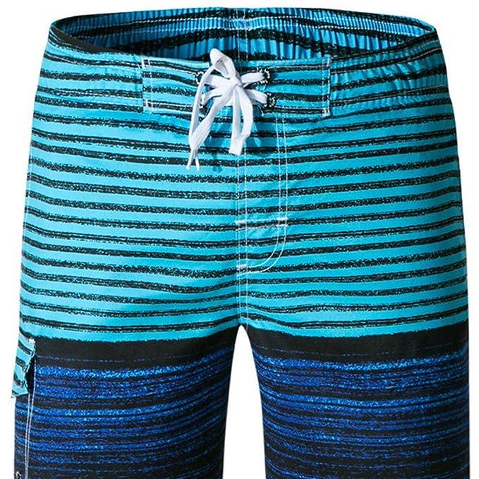 Amazon.com: iLXHD Pantalones cortos para hombre, verano ...