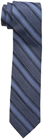 1304f49ec51 Calvin Klein Men's Denim Gold Multi Stripe Slim Tie, One Size at ...