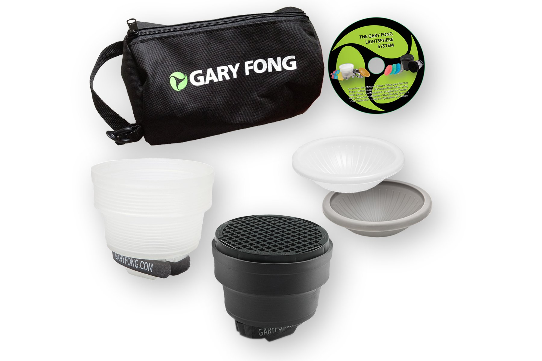 Gary Fong Portrait Lighting Flash Modifying Kit (Black/White/Gray/Amber) by Gary Fong
