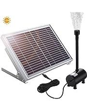 POWERADD Bomba de Agua Solar 17V/10W, Funtes de Energía Solar de Decoración de