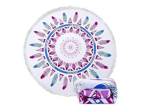 kxrzu Gracioso Patrones de moda impreso Toalla de playa redonda con borlas Super absorbente de agua