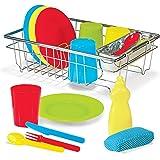 Melissa & Doug Let's Play House Wash and Dry Dish Set (24 pcs)
