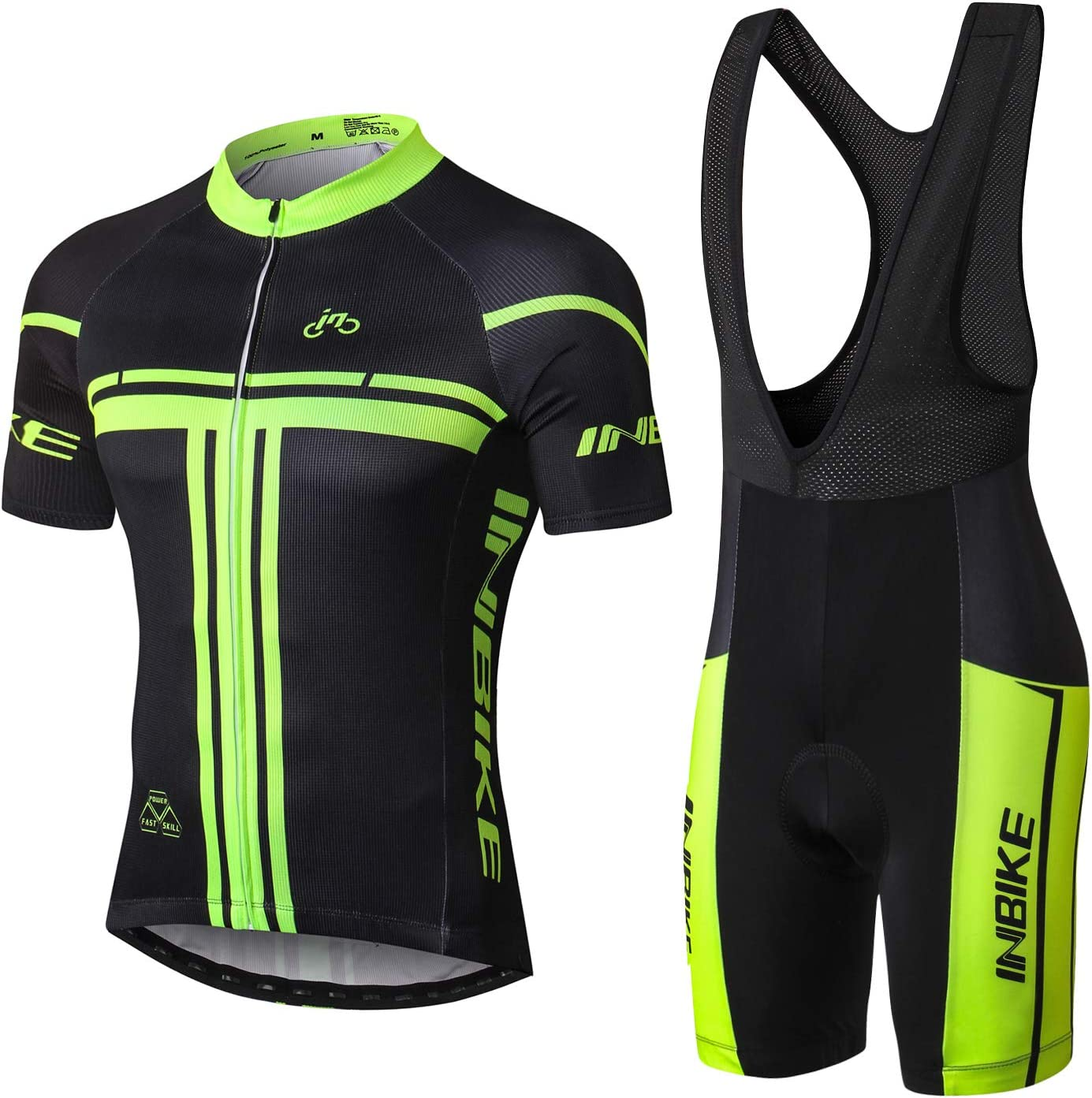 INBIKE Conjunto Ropa Equipacion Traje Ciclismo Hombre para Verano, Maillot Ciclismo Hombre+Culotte Ciclismo Culote Bicicleta