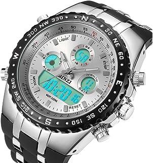 amazon com binzi big face sports watch for men waterproof binzi big face sports watch for men waterproof military analog digital watch in black silicone