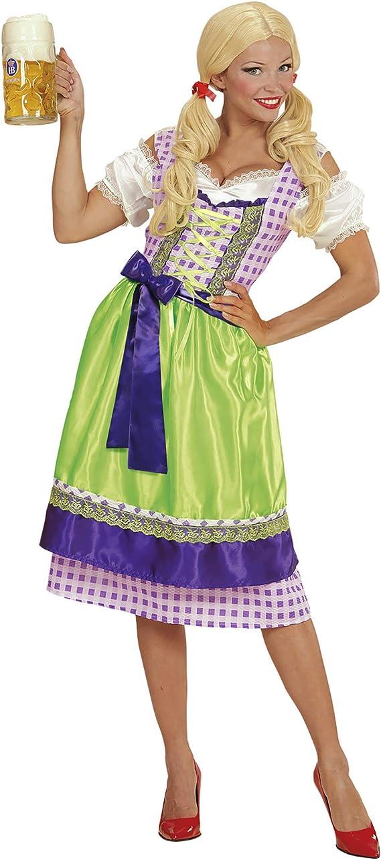 WIDMANN- Disfraz Tirolesa Vestido con Delantal, Color Morado, L ...