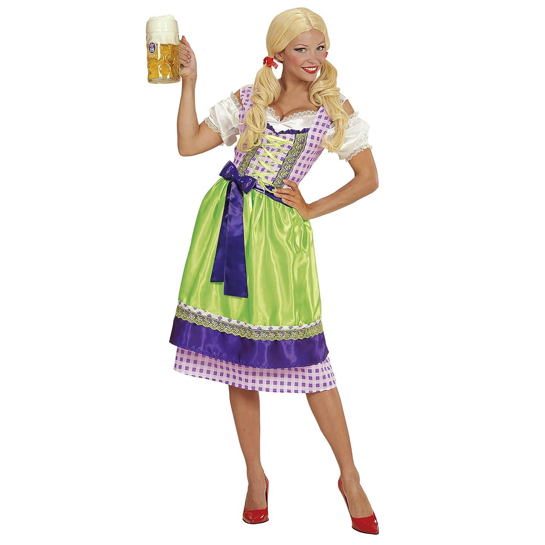WIDMANN- Disfraz tirolesa vestido con delantal, Multicolor, S ...