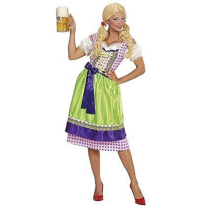 WIDMANN- Disfraz Tirolesa Vestido con Delantal, Color Morado ...