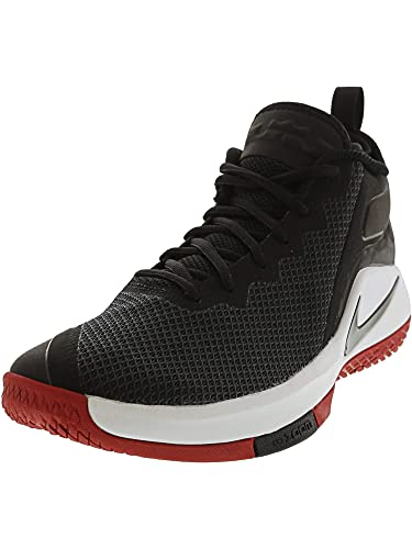 new products 2b538 2b157 Nike Men s Lebron Witness II Basketball Shoe Black White-Gym Red 9.5