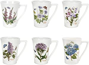 Portmeirion Botanic Garden Set of 6 Mandarin Mugs (Assorted Motifs)