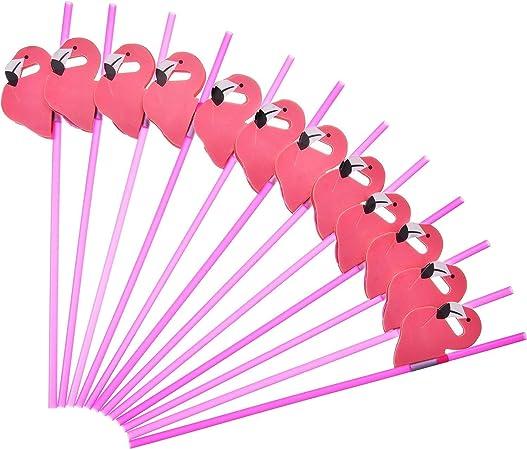 En Plastique Rouge Flexible Pailles x 50