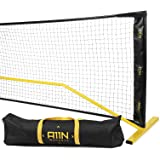 A11N Portable Pickleball Net System, Designed for All Weather Conditions with Steady Metal Frame and Strong PE Net, Regulatio