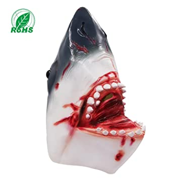 Costumes & Accessories Kids Costumes & Accessories Latex Animal Mask Carnival Costume Accessory Novelty Halloween Party Head Mask Shark Fancy Dress Party Ocean Fish Cosplay Mask