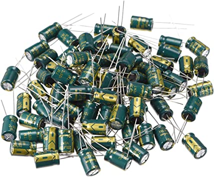 uxcell Aluminum Radial Electrolytic Capacitor Low ESR Green with 680uF 25V 105 Celsius Life 3000H 10 x 17mm High Ripple Current,Low Impedance 20pcs