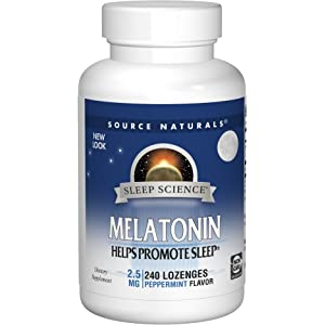 Source Naturals Sleep Science Melatonin 2.5mg Sleep Support Peppermint Flavor - Promotes Restful Sleep and