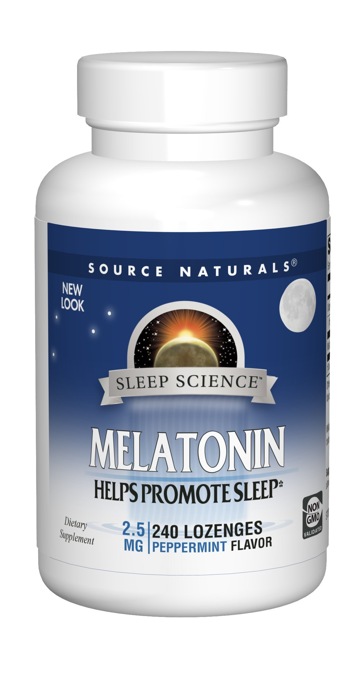 Source Naturals Sleep Science Melatonin 2.5mg Peppermint Flavor Promotes Restful Sleep and Relaxation - Supports