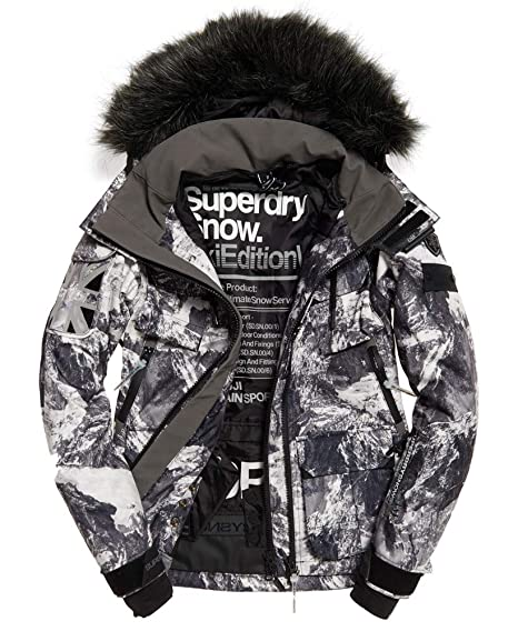 la meilleure attitude db63a c12b4 Superdry Veste De Ski Ultimate Snow Grey/Coral: Amazon.fr ...