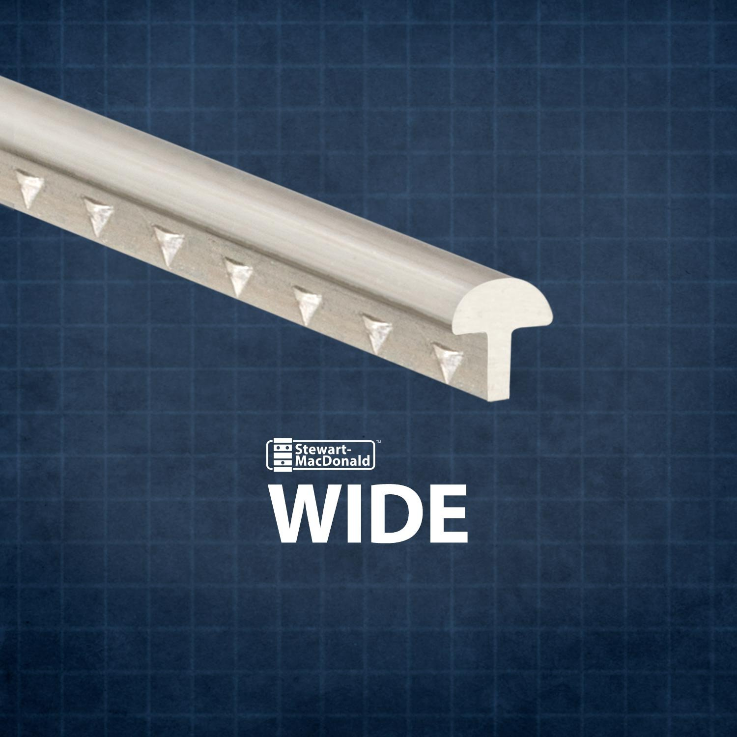 StewMac Wide Fretwire, Wide/Highest, 2-foot piece - 3 pack #AN0150