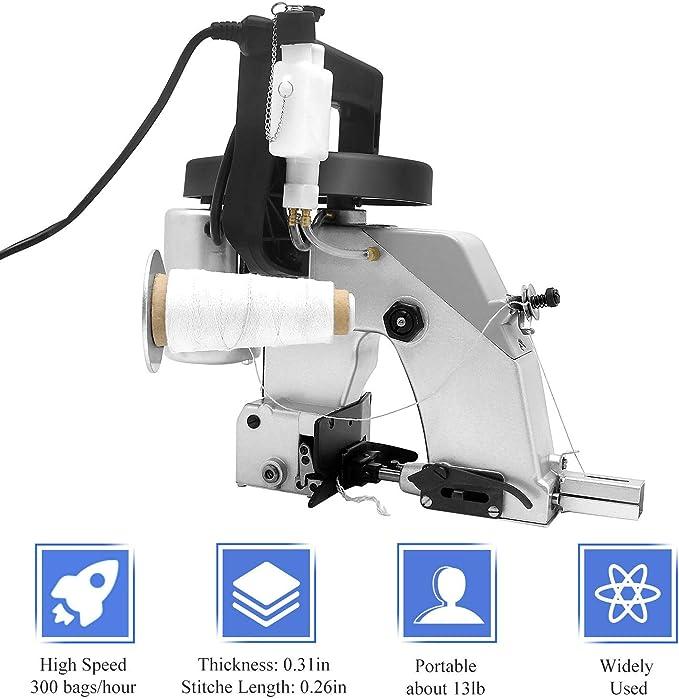 Hanchen Máquina de Coser Bolsas Portátil Máquina de Embalaje Industrial para Cerrar Bolsas Tejida/Saco/Bolsas de Algodón: Amazon.es: Bricolaje y herramientas