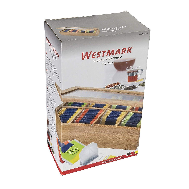 Westmark 15742260 28 x 16 x 9 cm madera de bamb/ú Caja para bolsitas de t/é