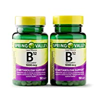 Spring Valley Vitamin B12 Timed Release Tablets, 1000 mcg, 150 Count (Pack of 2,...