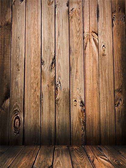 Yongfoto 2 5x3m Vinyl Foto Hintergrund Holz Braun Kamera