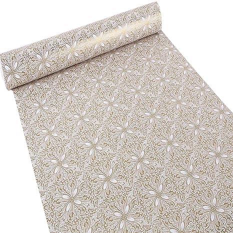 Amazon Com Upredo Adhesive Gold Floral Decorative Paper