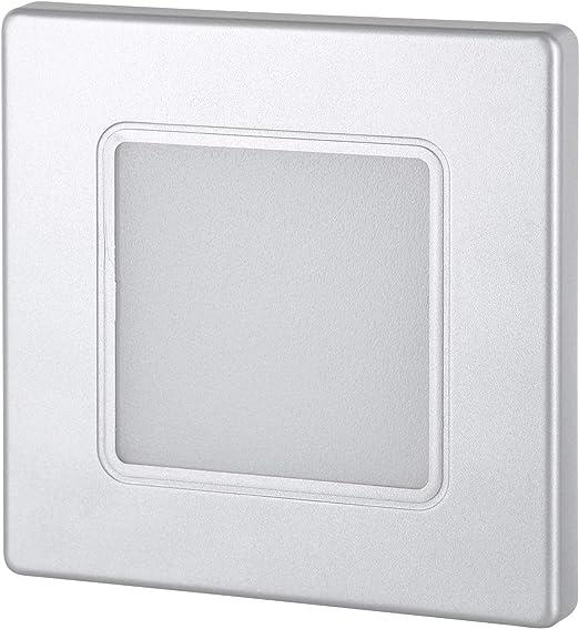 Foco LED empotrable para pared (230 V, cuadrado, para caja de ...