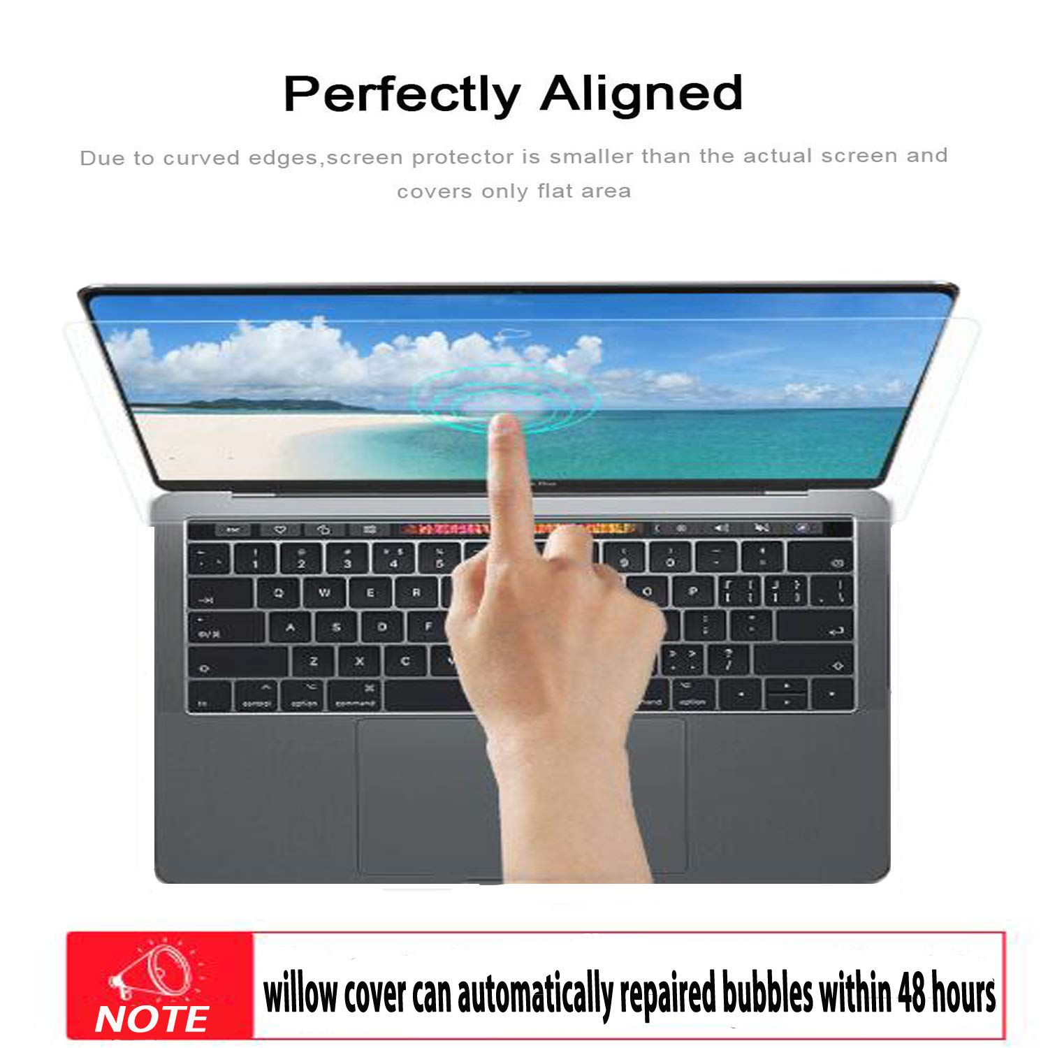 Glass Screen Protector for MacBook Pro 15 Inch Model A1707,9H Hardness with Ultra Thin 0.15mm Thickness by LILIONGTH (Image #2)