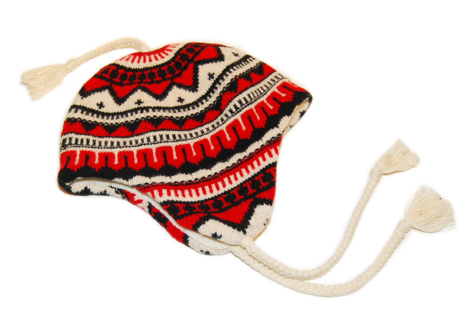 Ralph Lauren Rugby Mens Womens Polo Indian Lambswool Ski Hat Cap Red Black Cream