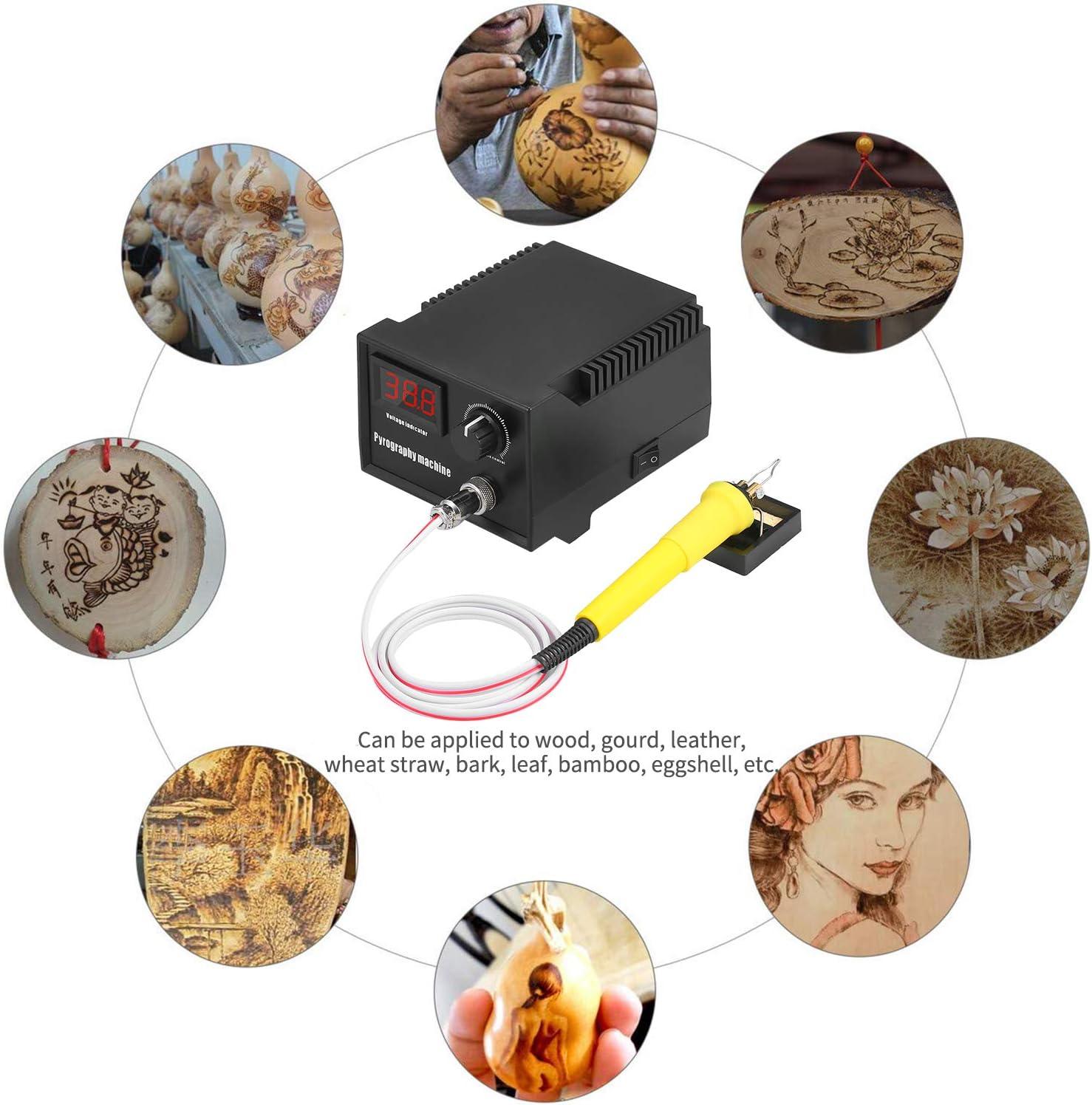 M/áquina de pirograf/ía,pirograbador de madera 60w profesional 29pcs//19pcs tipo di digitale//puntatore Ajustable 0 ℃ 800 ℃
