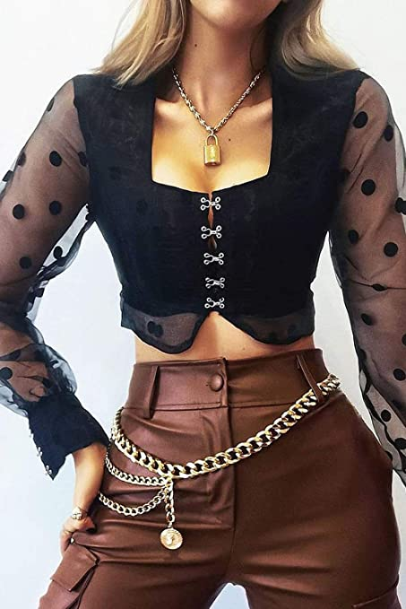 Mapal Short-sleeved Dress Mesh Abdomen Insert Black