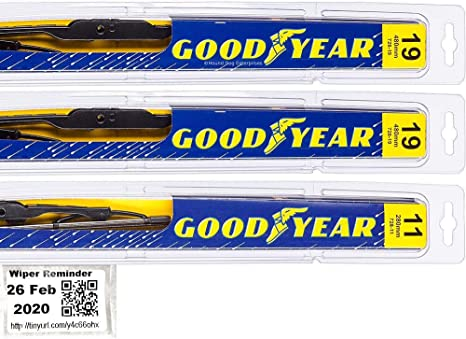 Goodyear Windshield Wipers >> 2002 2012 Jeep Liberty Replacement Wiper Blade Set Kit Set Of 3 Blades Goodyear Wiper Blades Premium