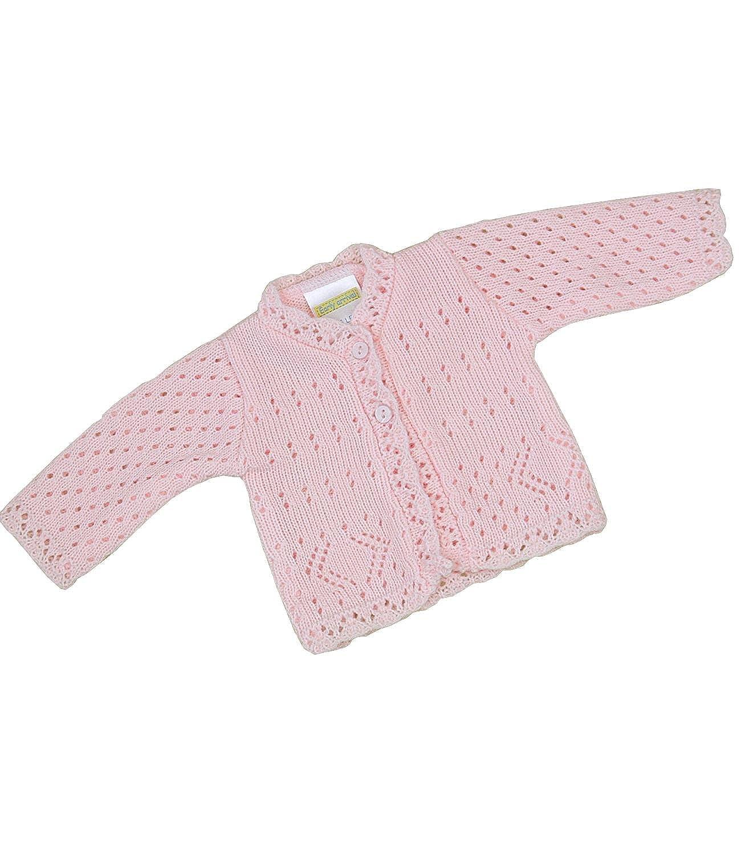 BabyPrem b/éb/é pr/ématur/é Cardigan Veste Lacy Tricot Acrylique 1.6-3.4kg Rose Prem 3
