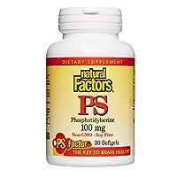 Natural Factors, Phosphytidyl Serine 100mg, 30 Capsules