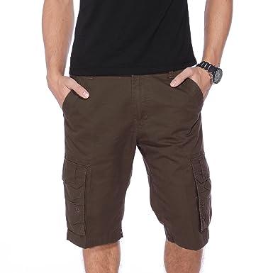Bermuda Pantalon cargo homme pantacourt short casual plage sport 3 taille  noir brun gris style 2(taille à reporter à la derniere image dans l annonce! 9a5a3b223d3