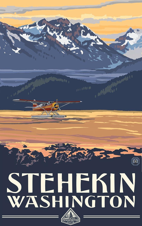 Lanquist Northwest Art Mall Stehekin Washington Float Plane Unframed Poster Print by Paul A 11-Inch by 17-Inch
