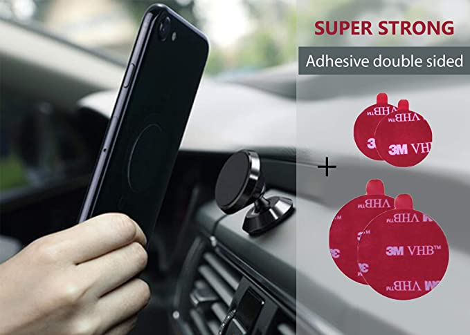 pretty nice c706f f465c Car Magnetic Mount for Phone| Strong Replacement Double Sided Adhesive  Pads| Black pop Socket| Waterproof 3M VHB Acrylic Foam Double-Coated