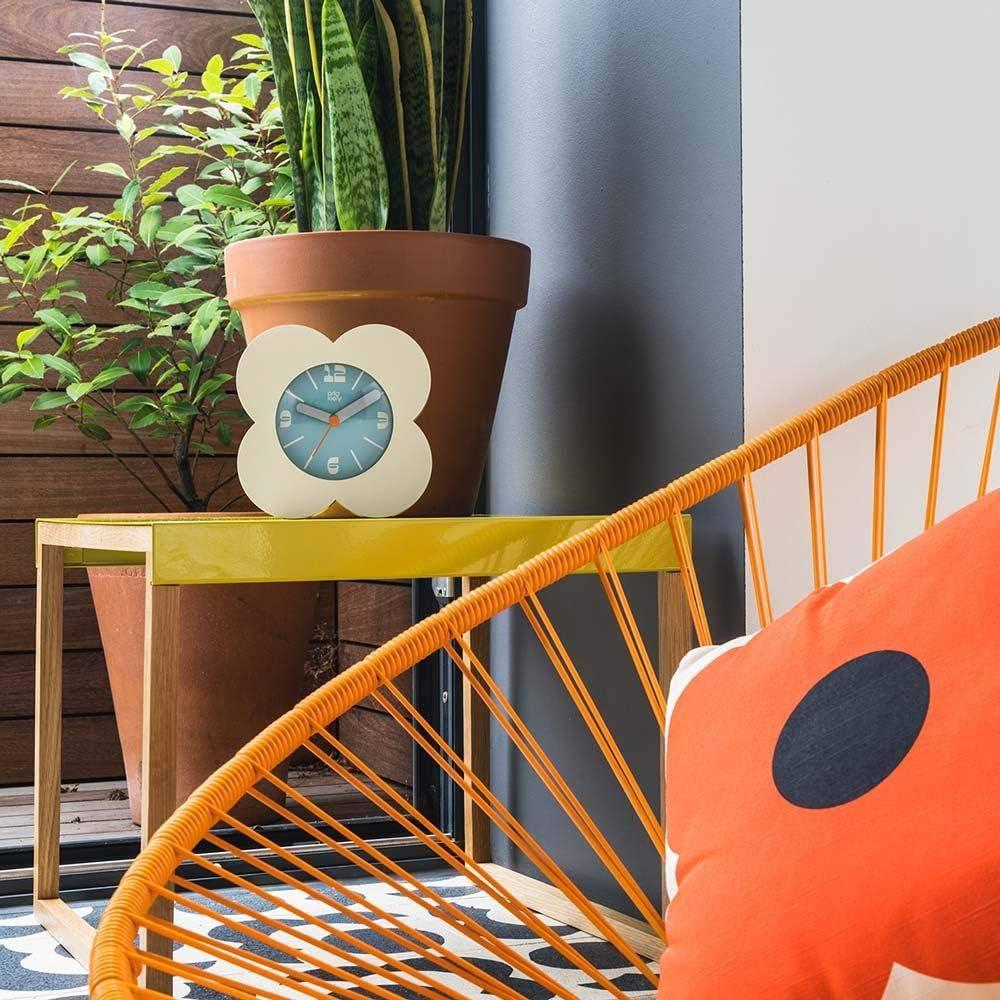Charcoal Orla Kiely Spot Flower Alarm Clock