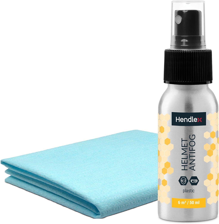 Hendlex Nano Super Hidrofobico Spray Resistente de Antivaho para Casco Moto, Gafas de Esqui y Gafas de Natacion 50ml