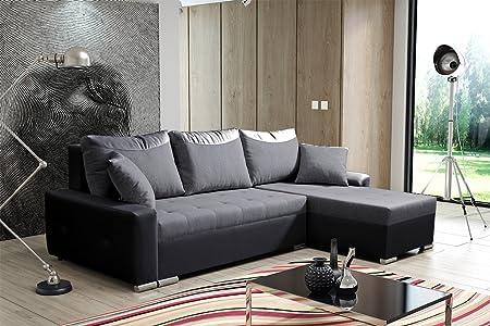 ARIS grande in ecopelle e tessuto divano letto divano ad ...
