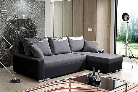 Divano Ad Angolo Grande : Aris grande in ecopelle e tessuto divano letto divano ad angolo con