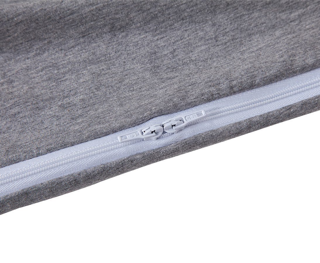Ang Qi Stretch Jersey Pregnancy Pillowcase - Total Body/Maternity Pillow Replacement Cover - U Shaped Pillowcase - Fit 55'' x 31'' Pillows - Gray by Ang Qi (Image #4)